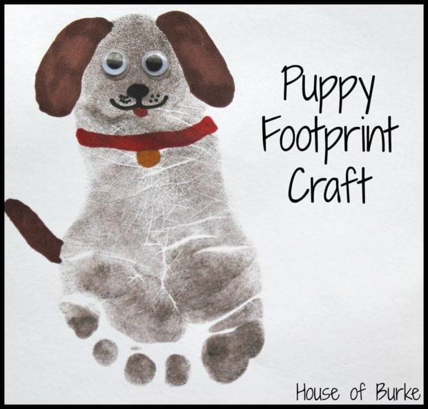 Puppy Pet Foot Print Craft