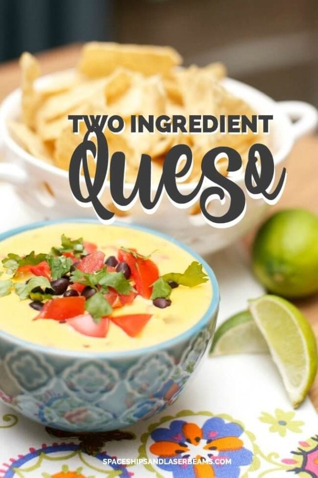 Two Ingredient Queso Perfect for Super Bowl Parties and Football Games