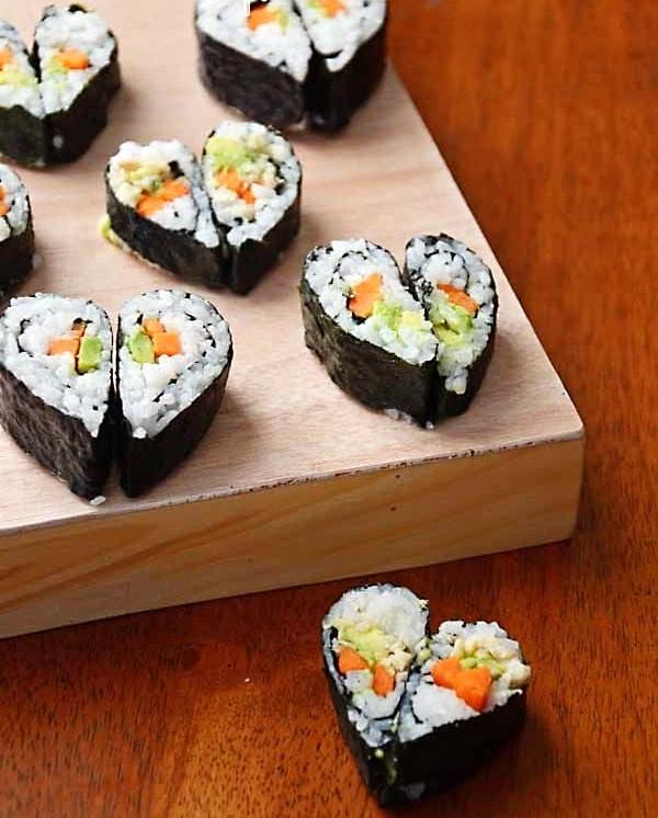 Valentine Heart Shaped Sushi