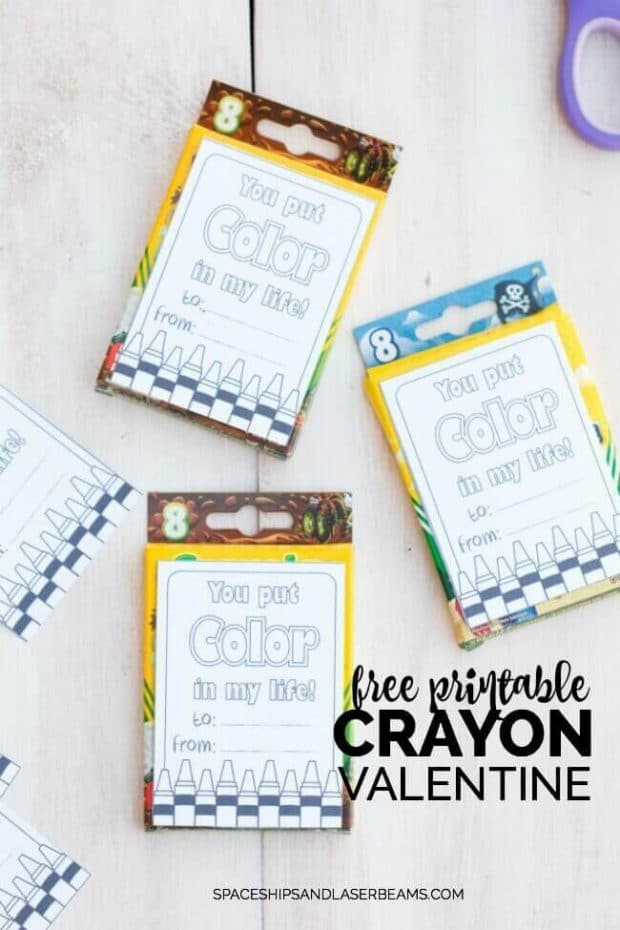 No Sugar No Chocolate Valentines Day Ideas - Crayon Box Valentine Gift - Inexpensive and Easy