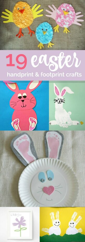 19 Easter Hand Foot Print Crafts Spaceships And Laser Beams