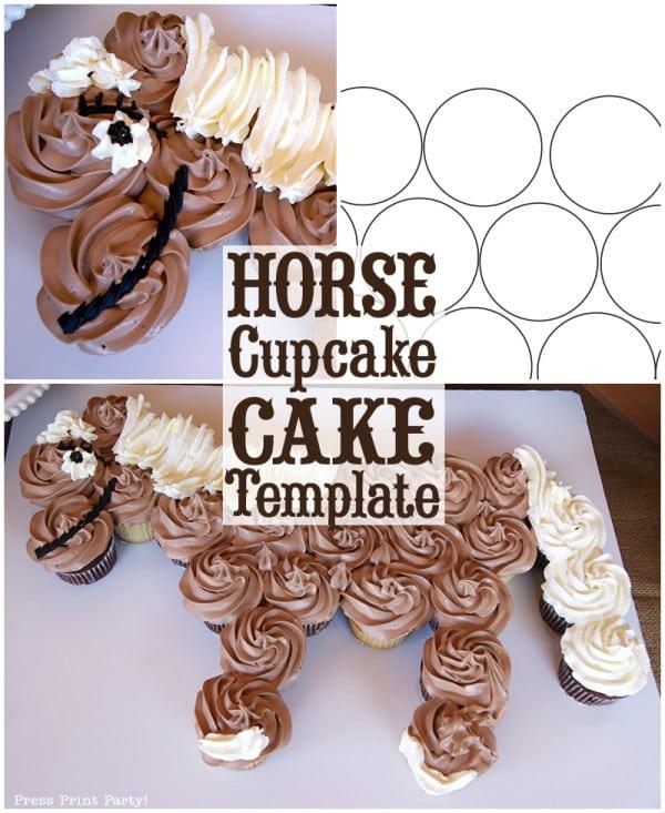 Horse Cupcake Cake How To