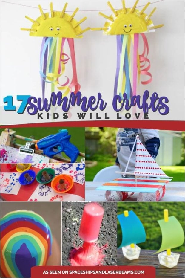 17 Great Summer Crafts for Kids - Spaceships and Laser Beams