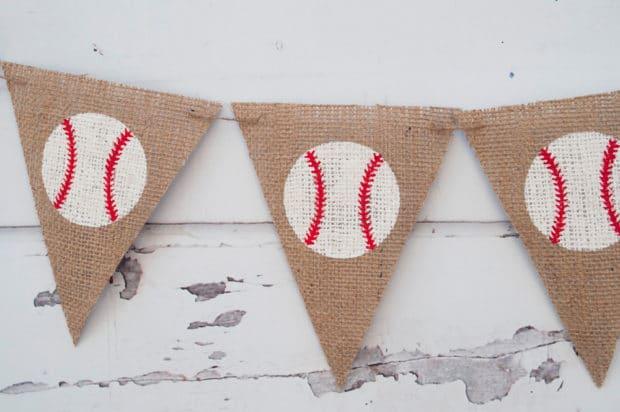 Burlap Baseball Banner