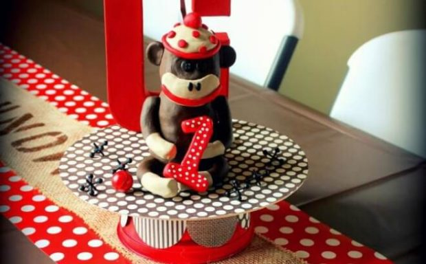 Astounding A Sock Monkey Themed 1St Birthday Party Spaceships And Laser Beams Funny Birthday Cards Online Barepcheapnameinfo