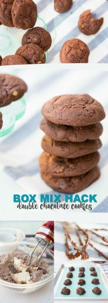 Box Mix Hack: Double Chocolate Cookies