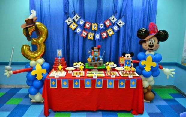 A Boy S Mickey Mouse Musketeer Birthday Party Spaceships