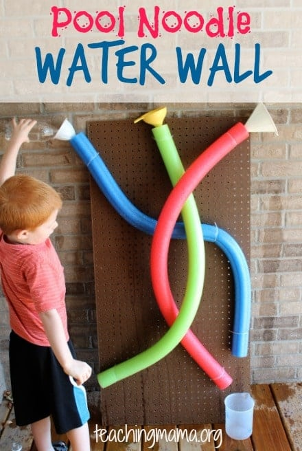 DIY Pool Noodle Water Wall