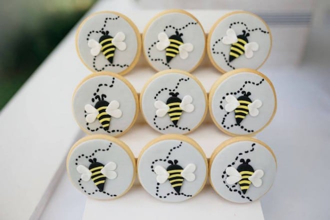 Boys Bumble Bee Birthday Party Food Cookie Ideas