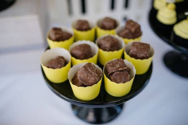 Boys Bumble Bee Birthday party Chocolate Candy Ideas