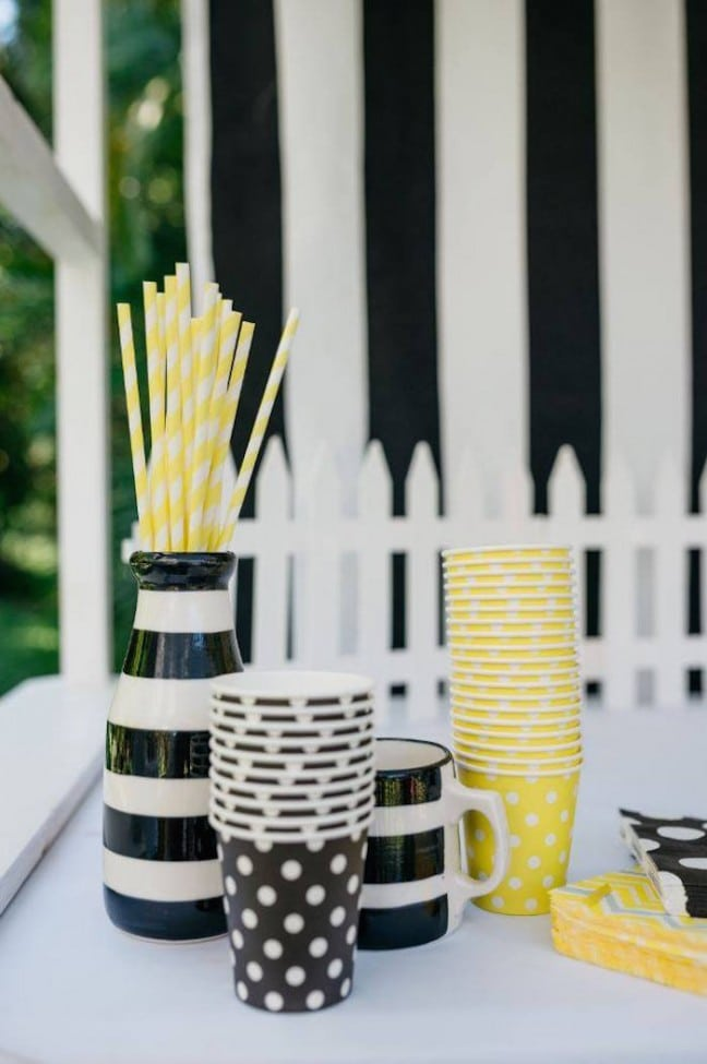 Boys Bumble Bee Themed Birthday Party Drink Ideas