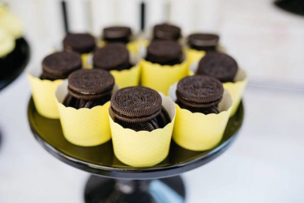 Boys Bumble Bee Themed Party Cookie Cup Ideas