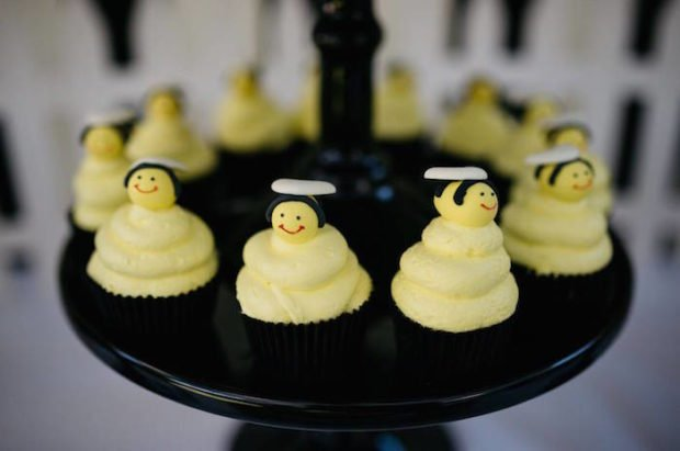 Boys Bumble Bee Birthday Party Food Cupcake Ideas