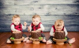 Lumberjack themed first birthday party