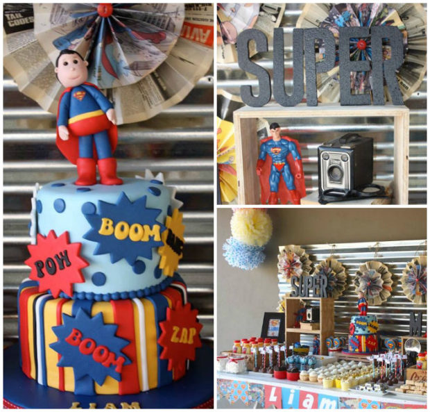 Boy's Superman Birthday Party Ideas