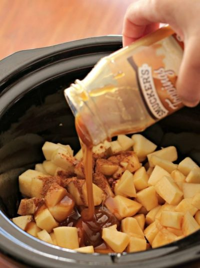 Apple pie dip made in a slow cooker