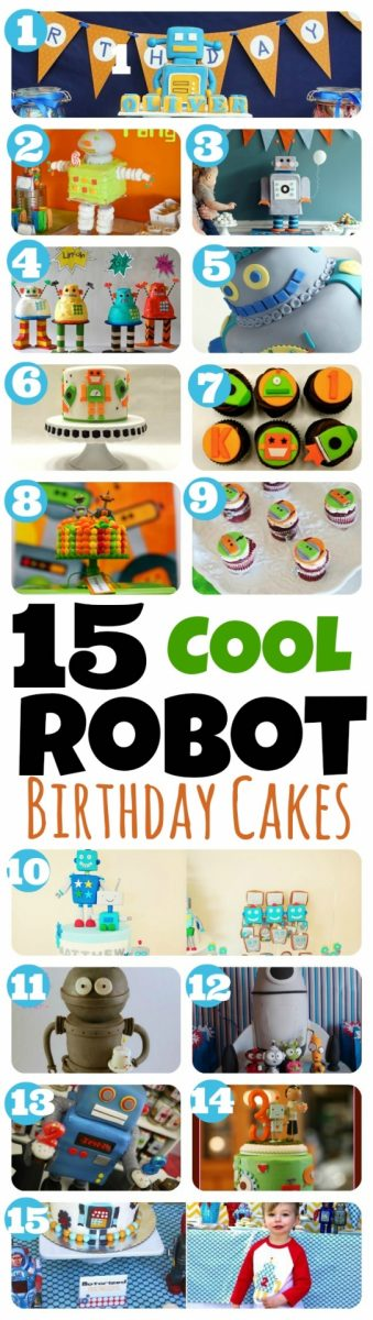 Awesome 15 Robot Birthday Cakes And Cupcakes You Will Love Spaceships Funny Birthday Cards Online Inifofree Goldxyz