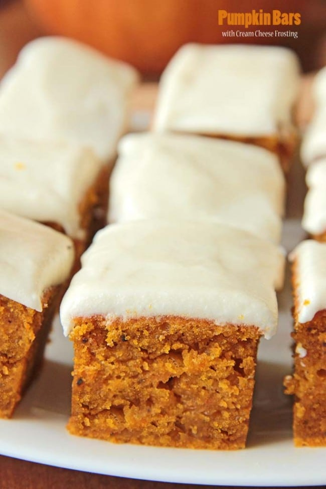 2-Pumpkin Bars with Cream Cheese Frosting