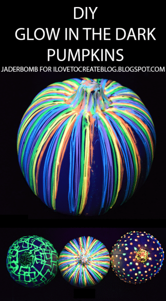 How to make glow in the dark pumpkins