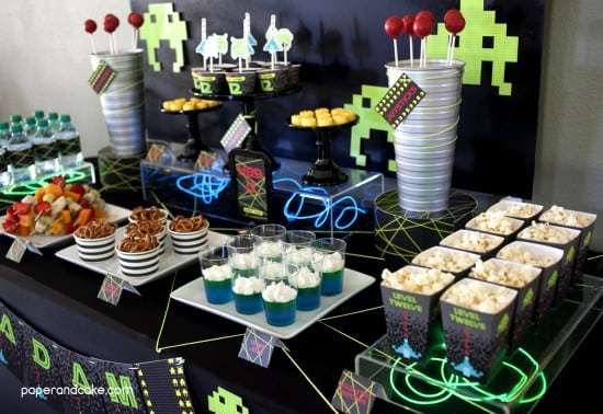 Boy's Video Game Themed Birthday Party