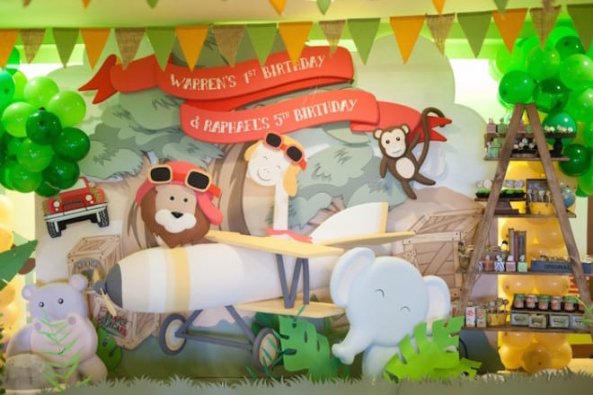 Boy's Animal Safari Themed Birthday Party