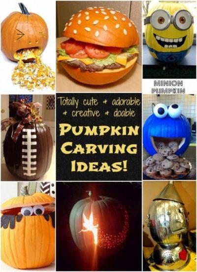 Cute Pumpkin Carving Ideas