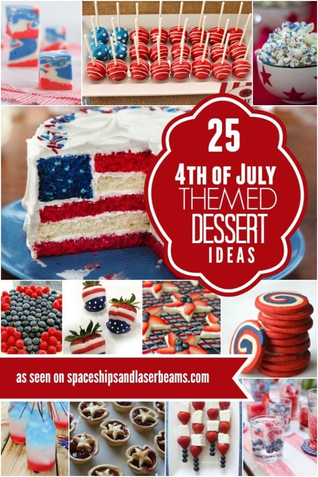 25 4th of july themed dessert ideas spaceships and laser for Fourth of july party dessert ideas