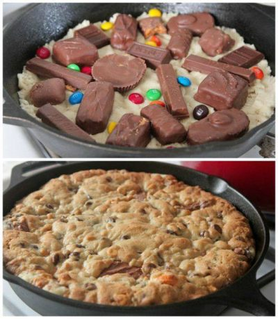 Leftover Halloween Candy Skillet Candy Recipe