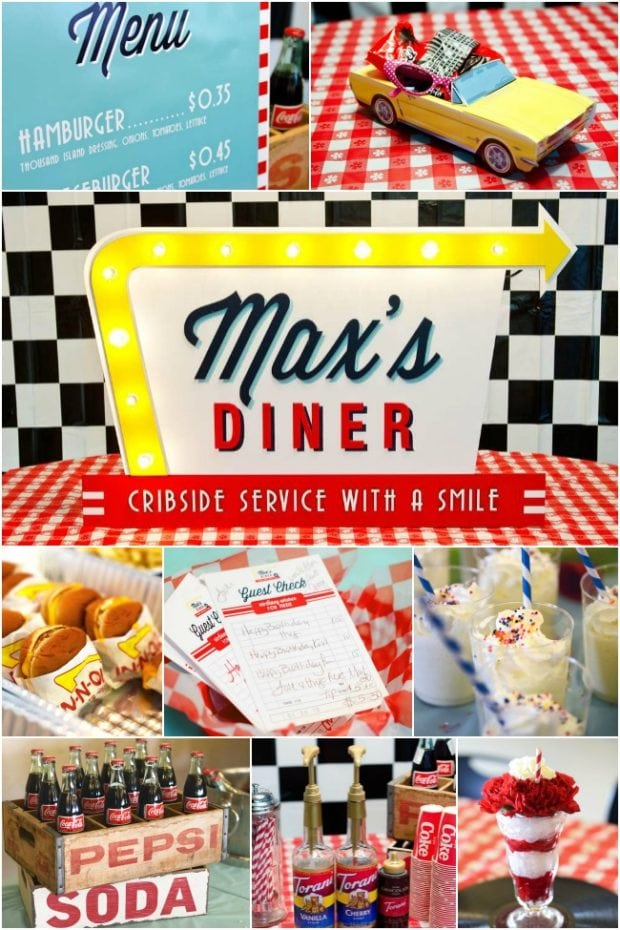 A 50 S Diner Inspired Boy S 1st Birthday Party