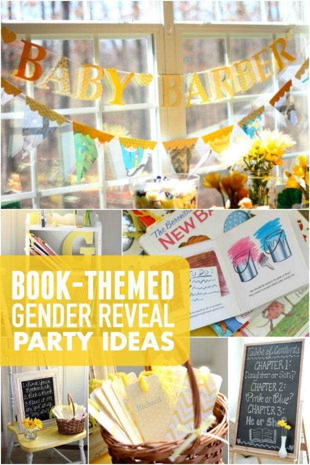 Book Themed Gender Reveal Party