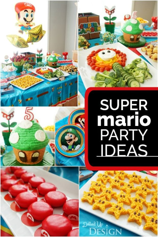21 Super Mario Brothers Party Ideas Spaceships and Laser Beams