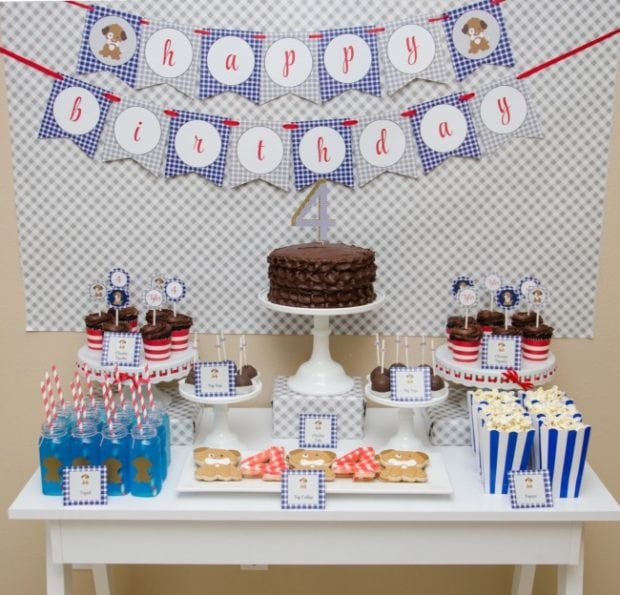 Boy's Puppy Themed Birthday Party