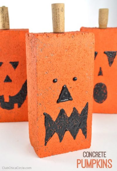 Easy-Concrete-Pumpkins-Fall-Craft-Idea