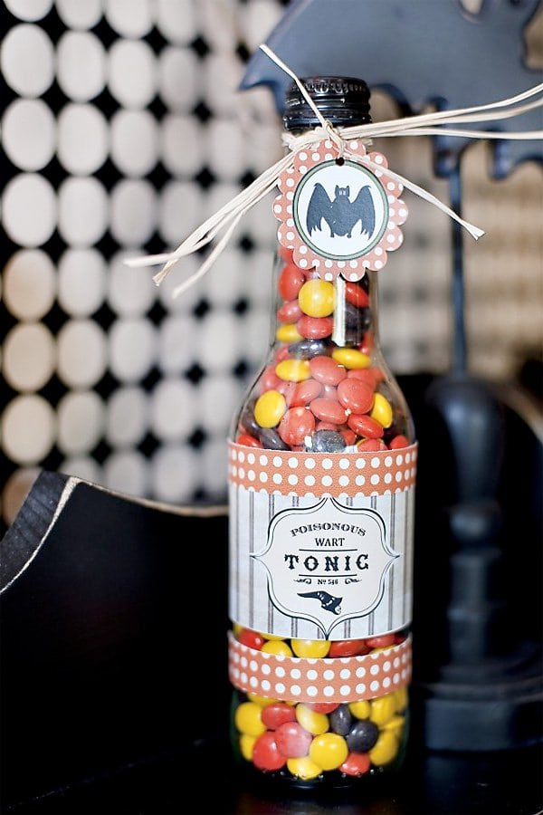Halloween DIY Project Bottle Craft Idea