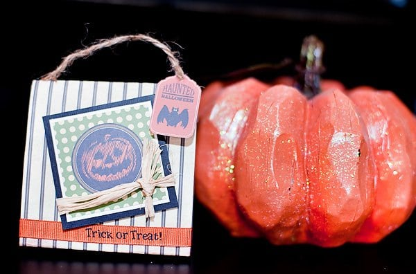 Halloween DIY Project Pumpkin Favor Bag