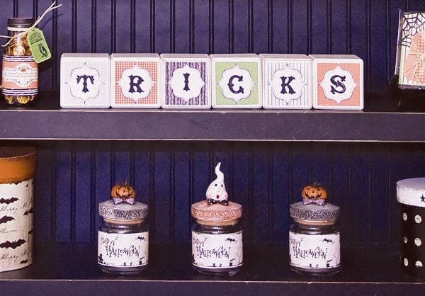 Halloween DIY Project Wood Blocks