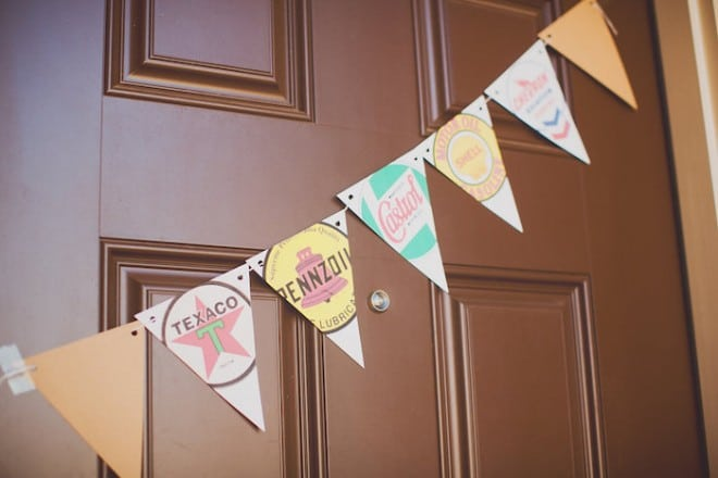 Vintage Car Themed Birthday Party Banner Ideas
