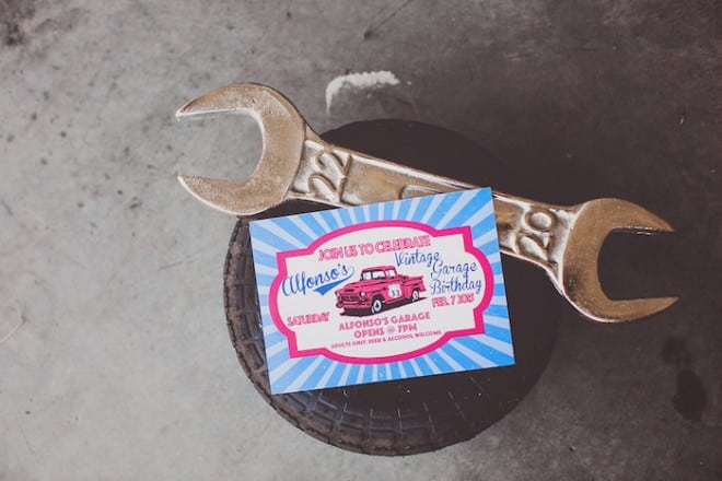 Vintage Car Themed Birthday Party Invitation Ideas