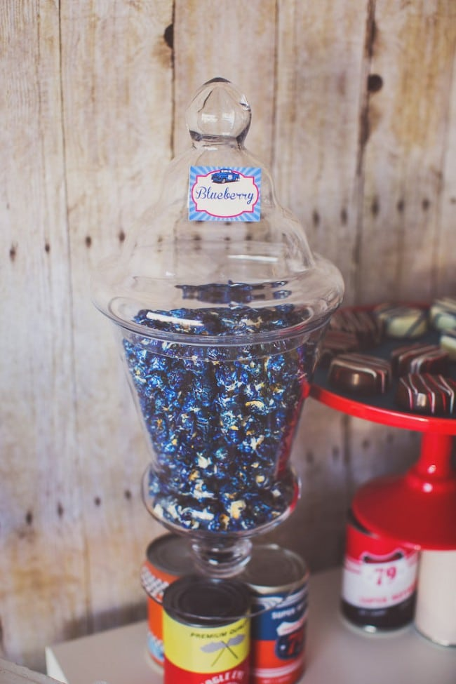 Vintage Car Themed Party Food Candy Popcorn Ideas