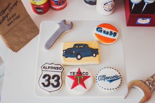 Vintage Car Themed Party Food Decorated Cookie Ideas