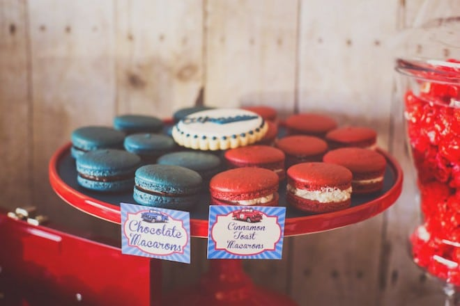 Vintage Car Themed Party Food Macaroon Ideas