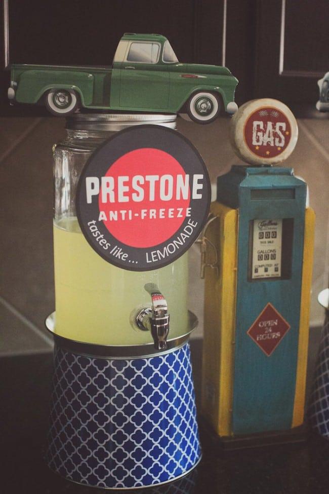 Vintage Themed Car Birthday Food Drink Lemonade ideas