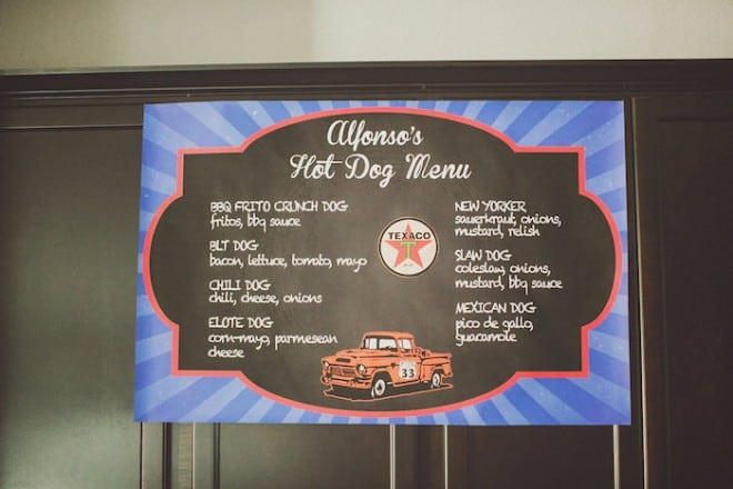 Vintage Themed Car Birthday Food Menu Idea