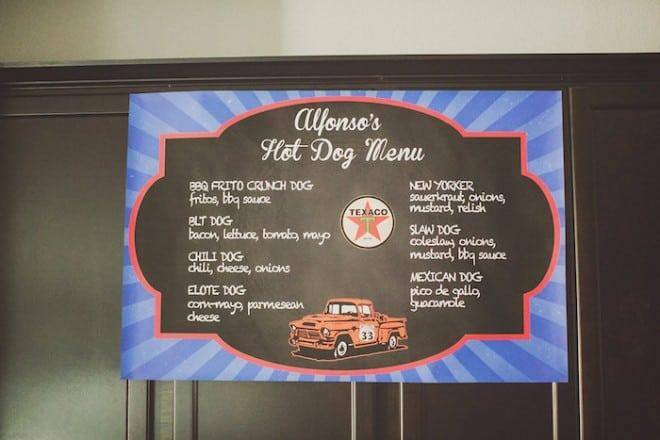 Vintage Themed Car Birthday Food Menu Idea