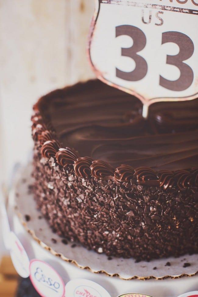 Vintage Themed Car Birthday Party Food Cake Ideas
