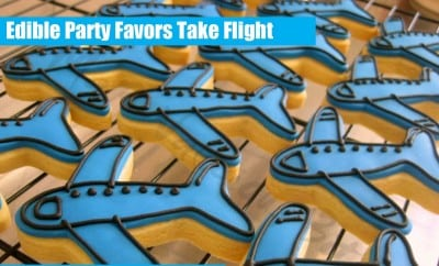 Airplane Birthday Party Favor Favour Sugar Cookies 483430