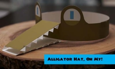 Alligator Reptile Bayou Birthday Party Supplies Hat 99044