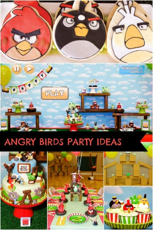Now launching an angry birds inspired boy s birthday for Angry birds party decoration ideas
