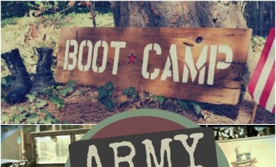Hoorah A Boy S Army Boot Camp Birthday Party Spaceships