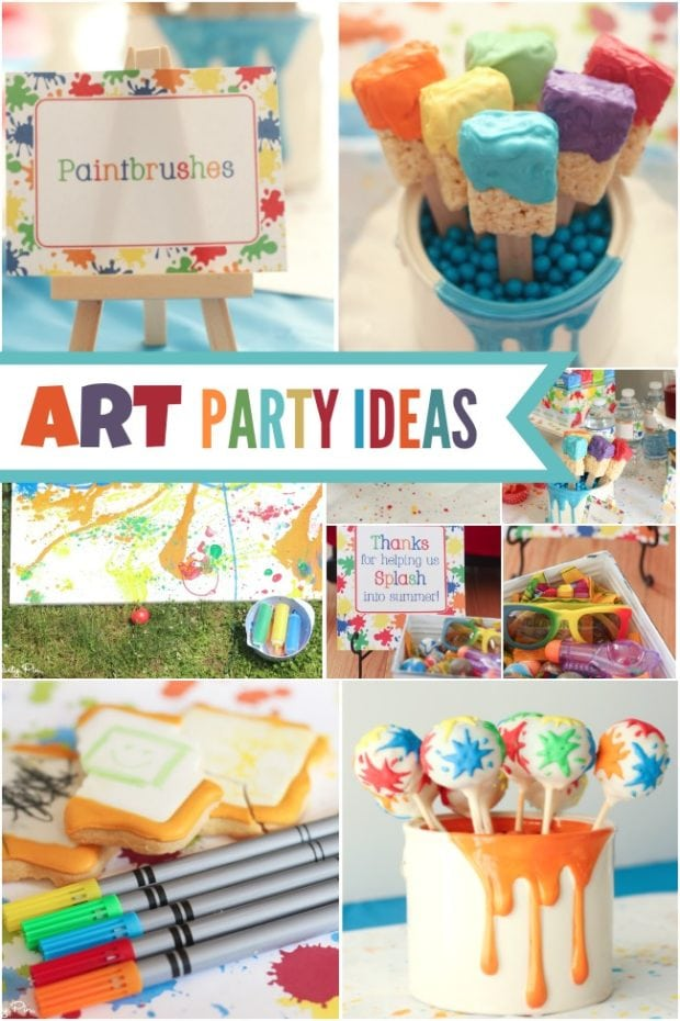 Art Themed Painting Party Ideas